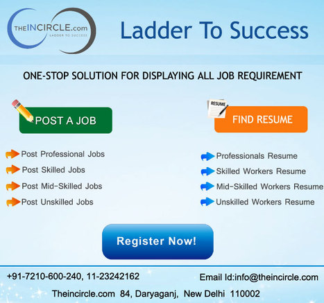 Free to post your job &hire any type of workers at THEINCIRCLE   Hire Worker Online   Scoop.it