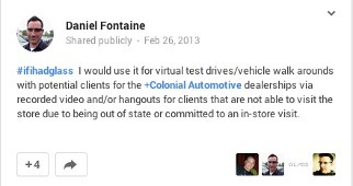 Google Glass for the Dealership | Daniel Fontaine | DrivingSales | Automotive E-Commerce | Scoop.it