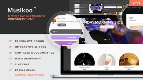 Musikoo: Music Band Responsive WordPress Theme For Artists - WordPress For Musicians | Wordpress For Musicians And Creatives | Scoop.it