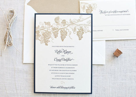 Winery Grapevine Themed Wedding Invitations   Autumn wedding ideas   Scoop.it