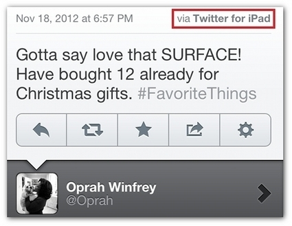 Busted! Oprah tweets her love for Microsoft's tablet—from an iPad | PR Daily | Public Relations & Social Media Insight | Scoop.it