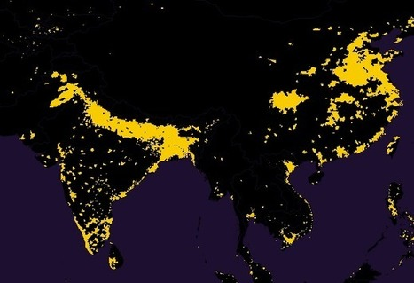 Half the World's Population Lives in Just 1% of the Land [Map] | Unit 2- Population and Migration | Scoop.it