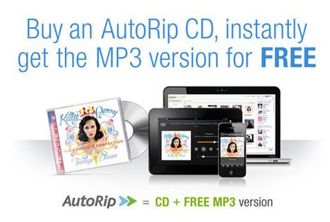 Amazon lance AutoRip : le MP3 compris dans le prix du CD   Libertés Numériques   Scoop.it
