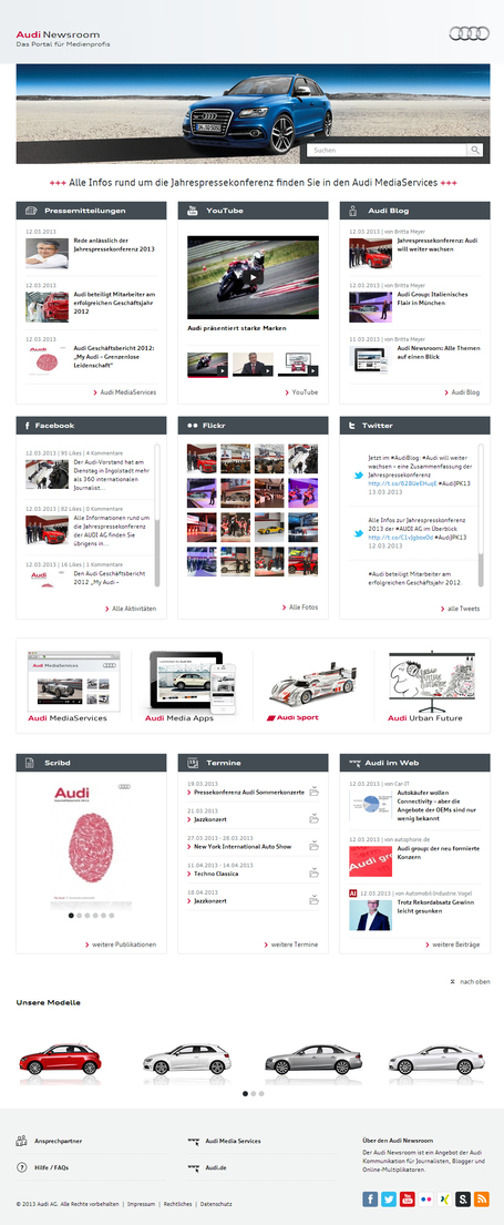 Audi Newsroom | Social Media Newsrooms | Scoop.it