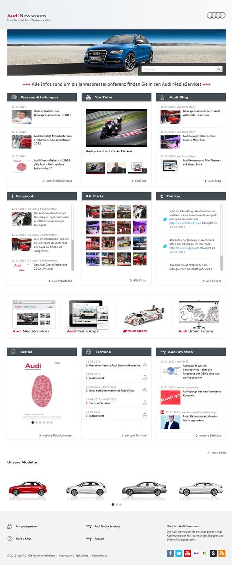 Audi Newsroom   Social Media Newsrooms   Scoop.it