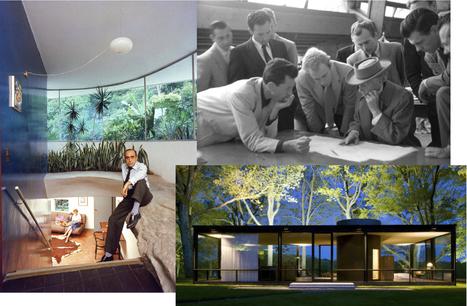 """"""" Trois architectes célèbres et leur maison moderne ... Oscar Niemeyer - Frank Lloyd Wright - Philip Johnson """"- inspiration-maison.be   Architecture Organique   Scoop.it"""