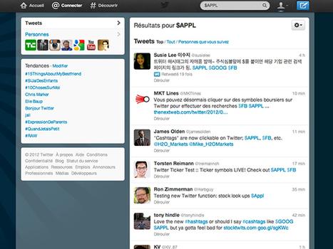 Twitter : arrivée des cashtags, pour les actions boursières | Banking The Future | Scoop.it