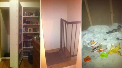 A secret room behind a bookshelf is cool until a stranger lives inside | Strange days indeed... | Scoop.it