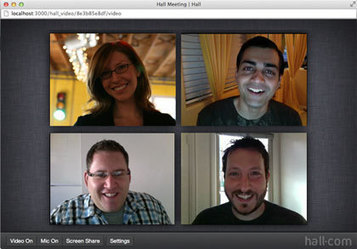 Free Group Video Chat and Screen-Sharing with the new Hall.com | Library Web 2.0 skills | Scoop.it