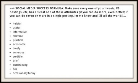 Social Media Success Formula - AllTwitter | NIC: Network, Information, and Computer | Scoop.it