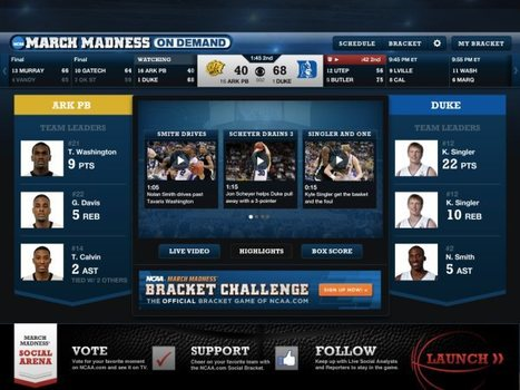 CBS & Turner Sports are streaming all the March Madness games to PCs, iPhones & iPads for free -- Engadget | TV Everywhere | Scoop.it