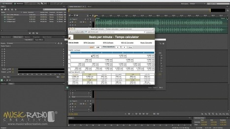 BPM Calculator : Music Radio Creative Blog | Adobe Audition | Scoop.it