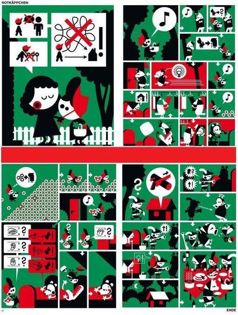 Le petit chaperon rouge avec images sans textes. Pour organiser des séances à l'oral | comment apprend-on? | Scoop.it
