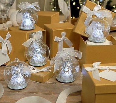 Kringle Express Set of 5 Illuminated Glass Ornaments with Gift Boxes — QVC.com   Blingy Fripperies, Shopping, Personal Stuffs, & Wish List   Scoop.it