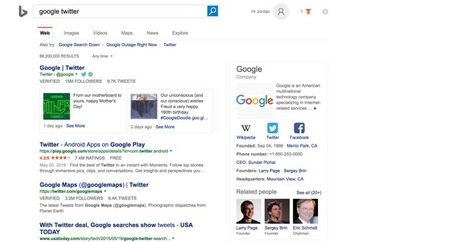 Bing tests showing tweets in search results, just like Google | Small Business On The Web | Scoop.it