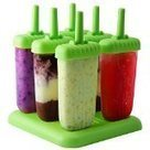 #3: 6 Popsicle Molds - Ice Pop Maker Set with Tray and Drip Guard, BPA Free, Green - By Chuzy Chef® | Best Refrigerators | Scoop.it