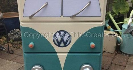 Vintage retro vw camper van pine Buy, sale and trade ads | Upcycled Objects | Scoop.it