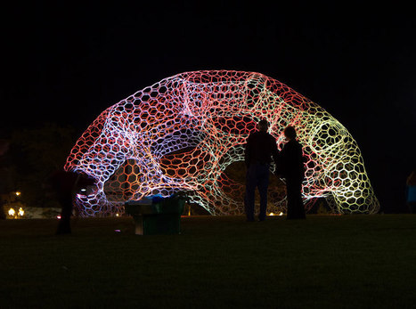 loop pH: SOL dome responsive solar-powered LED light pavilion - Designboom | pierre.feve@wanadoo.fr | Scoop.it