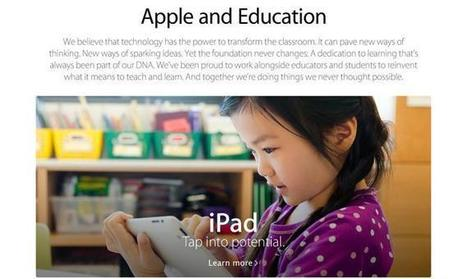 Apple rediseña su web dedicada a educación de cara al ... | Comunicación Educativa | Scoop.it