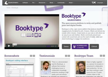 Booktype - free open source publishing | Scriveners' Trappings | Scoop.it