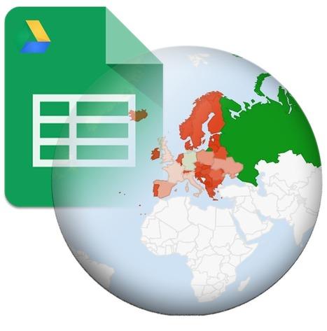 Cómo crear un Geo Mapa con Google Sheets   Novedades Educativas   Scoop.it
