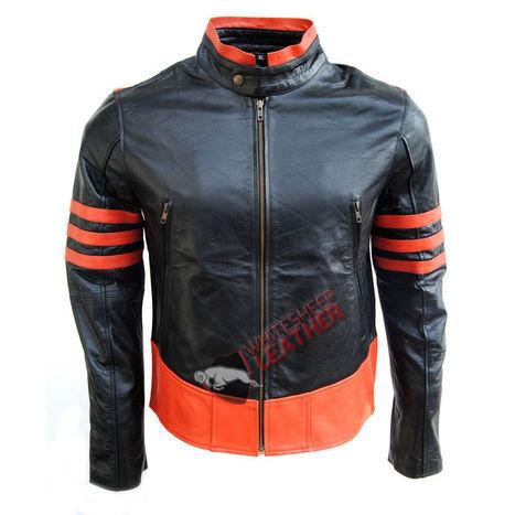 New XMen Wolverine Origins Biker Black Celeb Leather Jacket XS S M L XL 2XL 3XL | movie leather jackets | Scoop.it