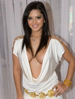 Sunny Leone in white Halter Dress with Golden strings in India | Fashion Divas | Scoop.it
