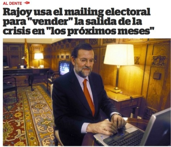 Rajoy usando el ordenador. Tweet from @ramonlobo | Partido Popular, una visión crítica | Scoop.it