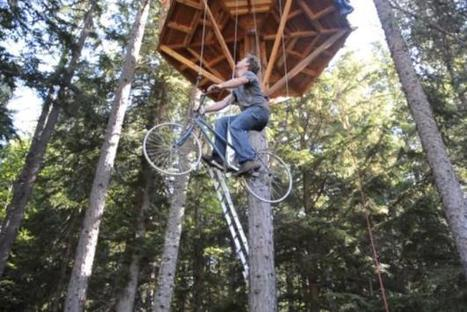 Bike-Powered Elevator Raises Rider Up To A Treehouse [Video] - PSFK   CLASS (Character, Leadership, all students, Scholarship, Service)   Scoop.it