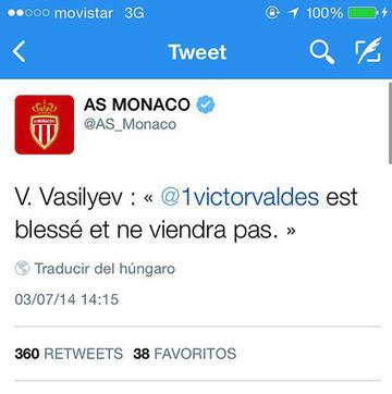 El Mónaco cierra la puerta a Valdés | FC Barcelona world | Scoop.it