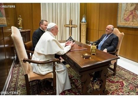 Pápež František prijal irackého premiéra Hajdara Abádiho   Správy Výveska   Scoop.it