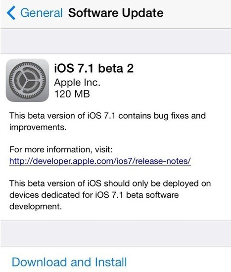 iOS 7.1 Beta 2 for Developers Has Arrived: Step-By-Step Process To Install Via Registered UDID | Application Development | Scoop.it