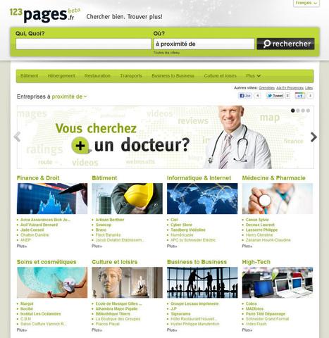 PagesJaunes lance 123Pages.fr, moteur de recherche d'entreprise   Veille Réseaux sociaux   Scoop.it