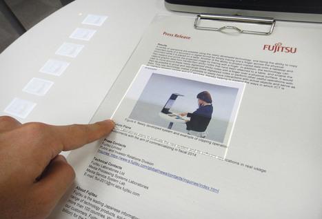 fujitsu's augmented reality touchscreen interface | La Réalité Augmentée dans l'édition (presse, magazine, livre, formation, etc.) | Scoop.it