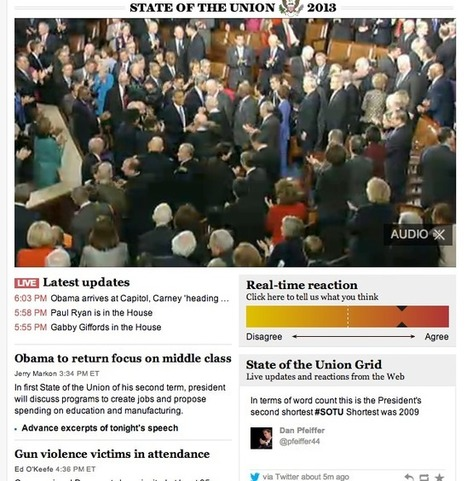 How Different News Orgs and Websites Covered The State Of The Union Address - 10,000 Words | Multimedia Journalism | Scoop.it