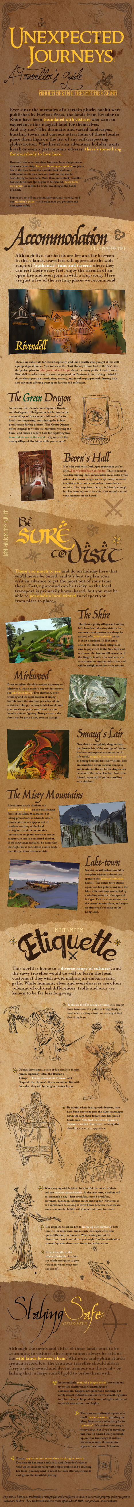 Unexpected Journeys: A Traveller's Guide to Middle Earth [infographic] | Travel and Cheap Flights | Scoop.it