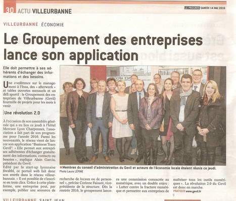 Le Groupement des entreprises lance son application | Villeurbanne dév. | Scoop.it