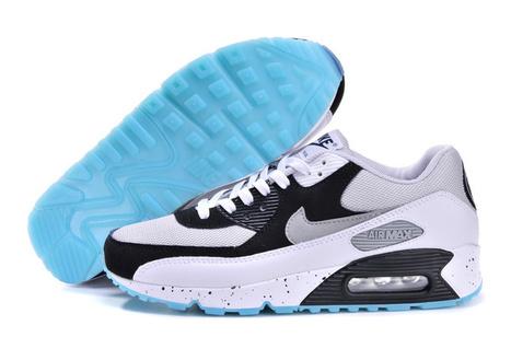Acquista Economico Nike Air Max 90 Uomini Bianco Luce Grigio Nero 537384-001 Scarpe Online | fashion | Scoop.it