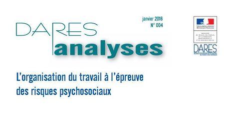 L'organisation du travail à l'épreuve des risques psychosociaux - Dares Analyses - | Quatrième lieu | Scoop.it