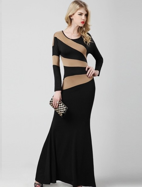 Sheath Column Tank Top Floor Length Black Evening Dress Olc0074 | Fashion Dresses Online | Scoop.it