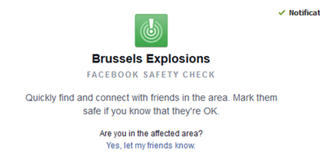 Safety Check: Herramienta de Facebook para comunicarnos con nuestros contactos en Bruselas | interNET | Scoop.it