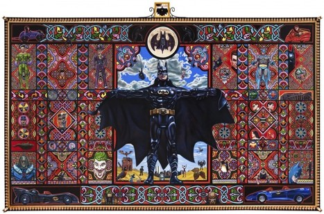 There will be Drooling.. Massive Holy Batman Painting Turns Dark Knight Into Religious Experience | Underwire | Wired.com | Tracking Transmedia | Scoop.it