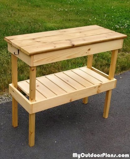 DIY BBQ Table | MyOutdoorPlans | Free Woodworking Plans and Projects, DIY Shed, Wooden Playhouse, Pergola, Bbq | Garden Plans | Scoop.it
