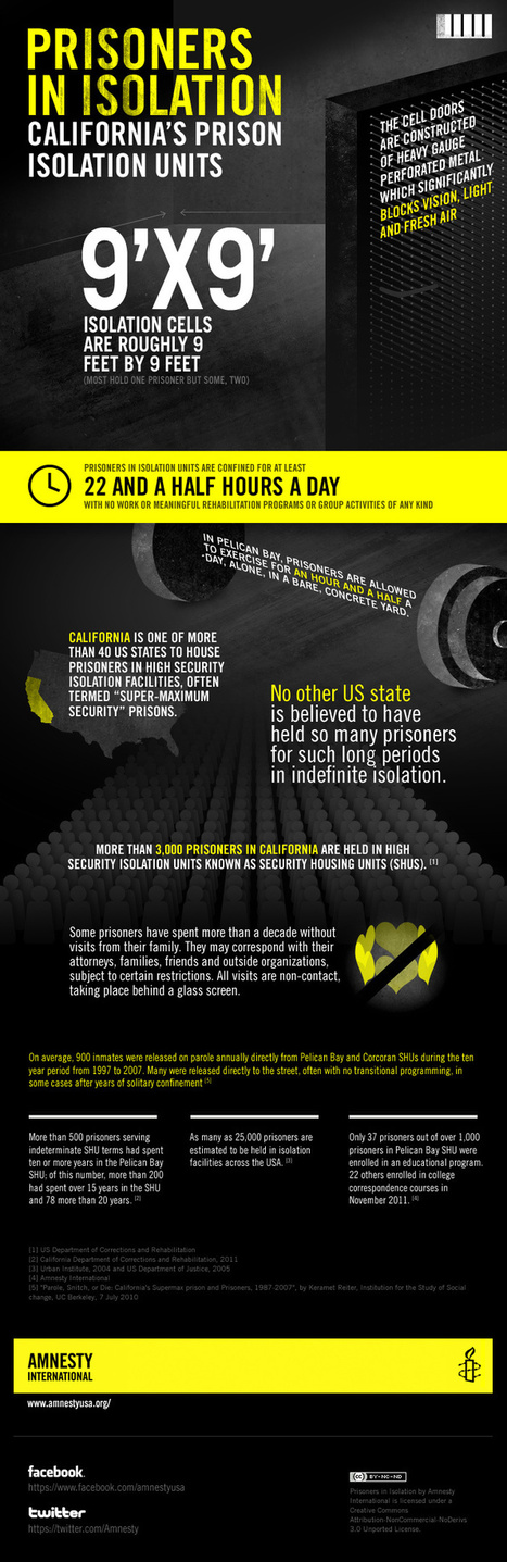 Why 30,000 California Prisoners Are On Hunger Strike [INFOGRAPHIC] | Bathgate Academy Amnesty International Group | Scoop.it