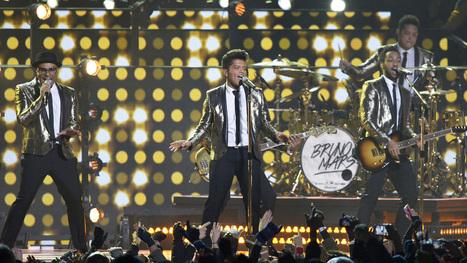Super Bowl Style: Bruno Mars Is Golden in Saint Laurent   Actualités Yves Saint Laurent   Scoop.it