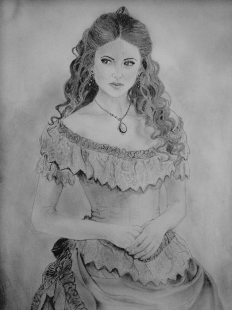 Katherine Pierce,from Vampire Diaries,Sketch | the different types of Art | Scoop.it