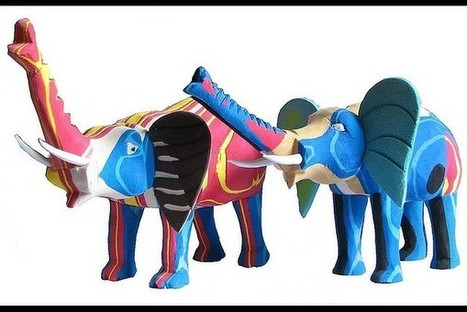 Recycled Rubber Elephants   scatol8®   Scoop.it