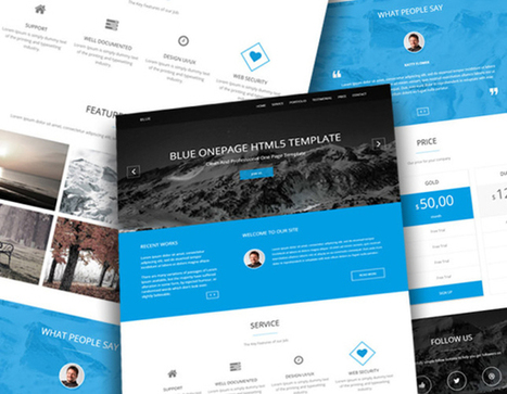30 Best Free And Premium Bootstrap HTML5 Responsive Templates | sscsworld | Scoop.it