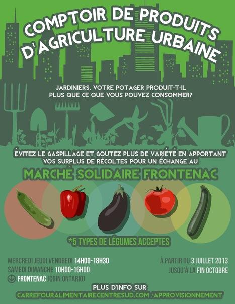 La mise en marché de l'agriculture urbaine franchit un nouveau pas à Montréal ! - Nouvelles - Agriculture urbaine Montréal | Nourrir la ville | Scoop.it