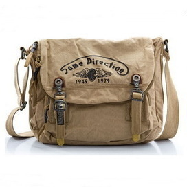 Solid canvas messenger bags for womens in khaki from Vintage rugged canvas bags | personalized canvas messenger bags and backpack | Scoop.it